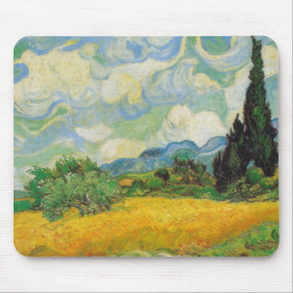 Vincent Van Gogh - Wheat Field with Cypresses Mouse Mat