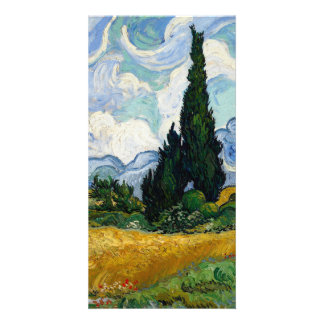 Vincent Van Gogh Wheat Field With Cypresses Photo Cards