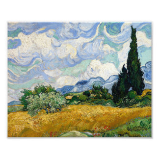 Vincent Van Gogh Wheat Field With Cypresses Photograph