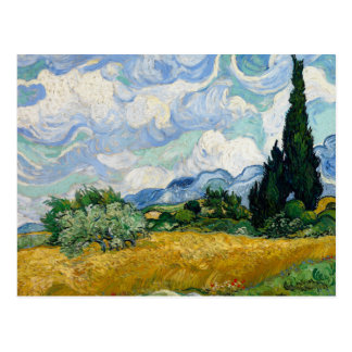 Vincent van Gogh - Wheat Field with Cypresses Postcard