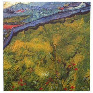 Vincent Van Gogh Wheat Field with Rising Sun Napkin