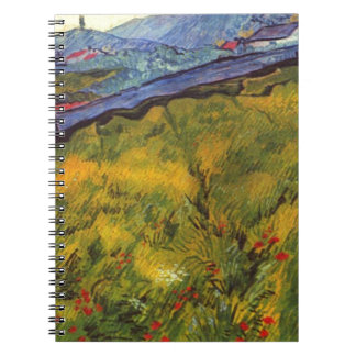 Vincent Van Gogh Wheat Field with Rising Sun Notebook