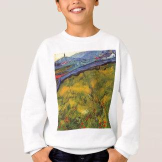 Vincent Van Gogh Wheat Field with Rising Sun Sweatshirt