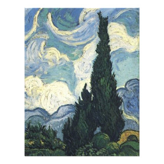 Vincent van Gogh Wheat Fields With Cypresses 21.5 Cm X 28 Cm Flyer