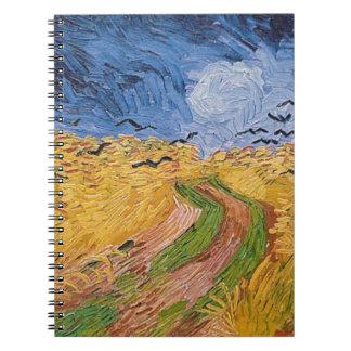 Vincent van Gogh | Wheatfield with Crows, 1890 Spiral Notebook