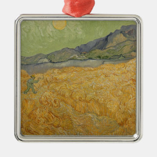 Vincent van Gogh | Wheatfield with Reaper, 1889 Christmas Ornament