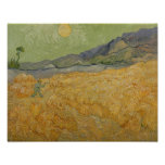 Vincent van Gogh | Wheatfield with Reaper, 1889 Poster