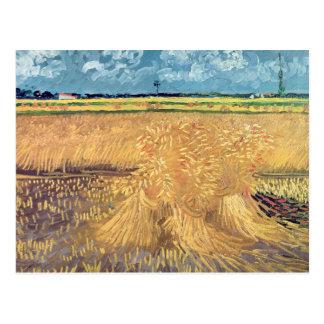 Vincent van Gogh | Wheatfield with Sheaves, 1888 Postcard