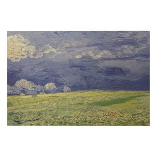 Vincent van Gogh | Wheatfields under Thundercloud Wood Print