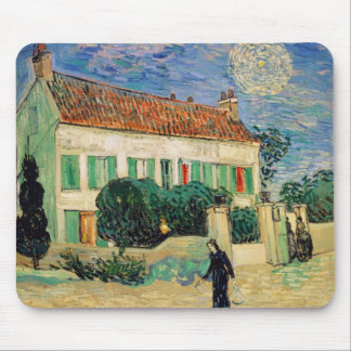 Vincent van Gogh | White House at Night, 1890 Mouse Mat