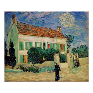Vincent van Gogh   White House at Night, 1890 Poster