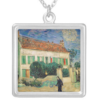 Vincent van Gogh | White House at Night, 1890 Silver Plated Necklace