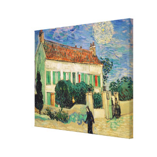Vincent van Gogh | White House at Night, 1890 Stretched Canvas Print