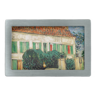 Vincent Van Gogh - White House at Night Artwork Belt Buckle