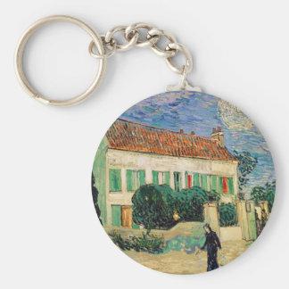 Vincent Van Gogh - White House at Night Artwork Key Ring