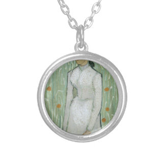Vincent van Gogh - Woman in Field Personalized Necklace