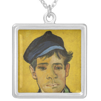 Vincent van Gogh | Young Man with a Hat, 1888 Silver Plated Necklace