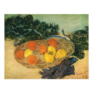 Vincent van Gogh's Basket of Fruit and Gloves 1889 21.5 Cm X 28 Cm Flyer