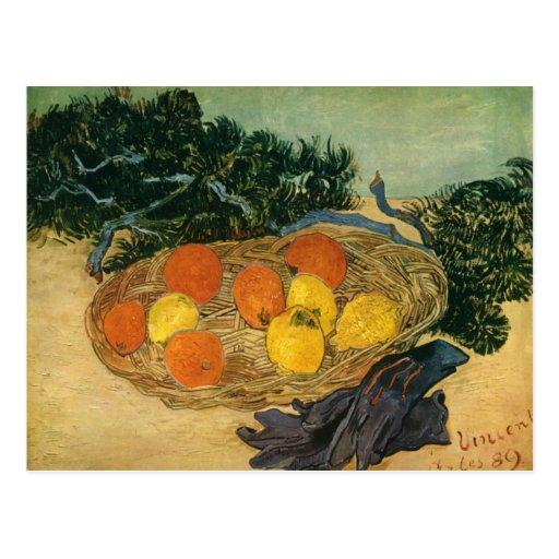 Vincent van Gogh's Basket of Fruit and Gloves 1889 Post Card
