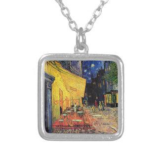 Vincent Van Gogh's 'Cafe Terrace' Necklace Square Pendant Necklace