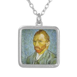 Vincent Van Gogh's 'Self Portrait' Necklace Square Pendant Necklace