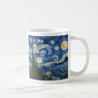 Vincent Van Gogh's Starry Night Classic White Coffee Mug