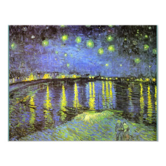 Vincent van Gogh's Starry Night Over the Rhone 11 Cm X 14 Cm Invitation Card