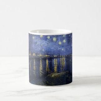 Vincent van Gogh's Starry Night over the Rhone Basic White Mug