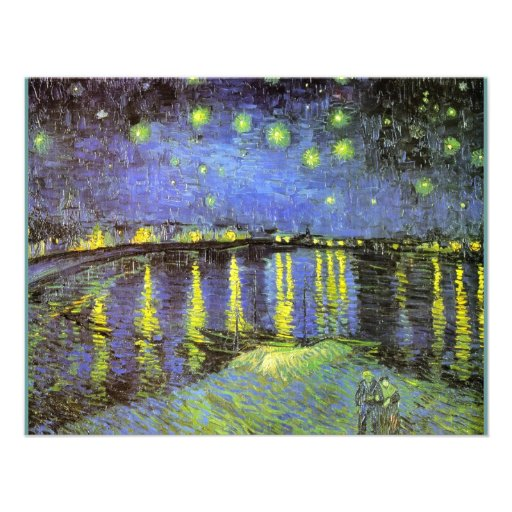 Vincent van Gogh's Starry Night Over the Rhone Personalized Announcement