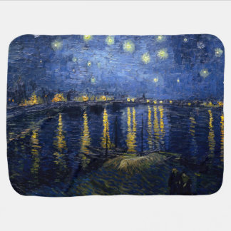 Vincent van Gogh's Starry Night Over the Rhone Receiving Blankets