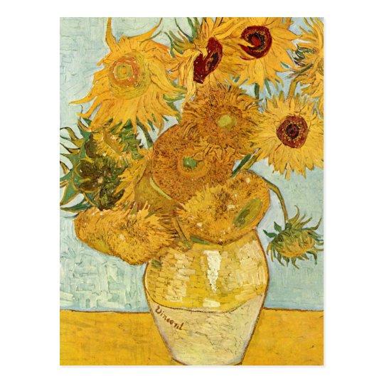 Vincent van Gogh's Stilleben mit 12 Sonnenblumen Postcard