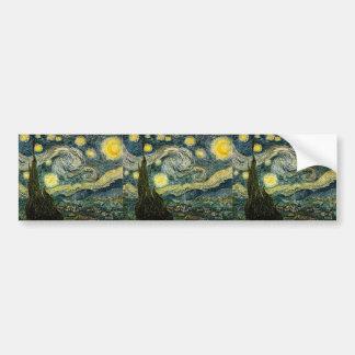 Vincent van Gogh's The Starry Night (1889) Bumper Sticker