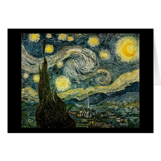 Vincent van Gogh's The Starry Night (1889) Cards