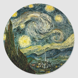 Vincent van Gogh's The Starry Night (1889) Classic Round Sticker