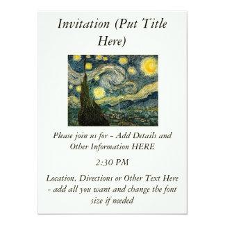 Vincent van Gogh's The Starry Night (1889) Invitations
