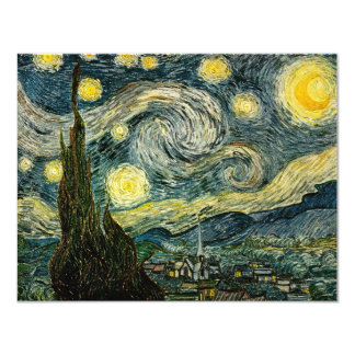 Vincent van Gogh's The Starry Night (1889) 11 Cm X 14 Cm Invitation Card