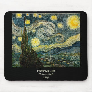 Vincent van Gogh's The Starry Night (1889) Mouse Mat