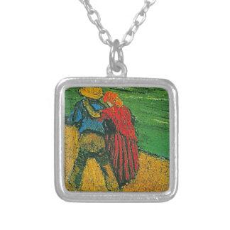 Vincent Van Gogh's 'Two Lovers' Necklace Square Pendant Necklace