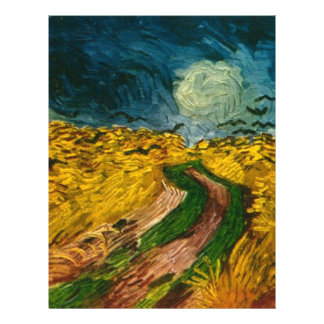 Vincent van Gogh's Wheat Field with Crows (1890) 21.5 Cm X 28 Cm Flyer