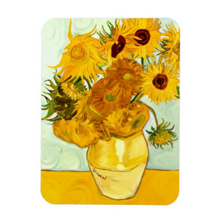 Vincent Van Gogh's Yellow Sunflower Painting 1888 Magnet