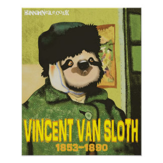 Vincent Van Sloth Print