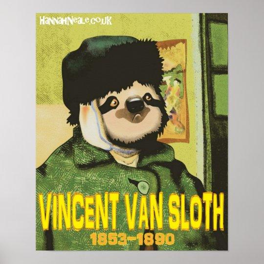 Vincent Van Sloth Print