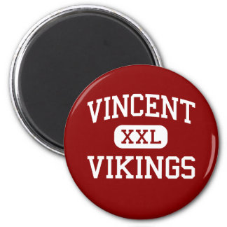 Vincent - Vikings - High - Milwaukee Wisconsin 6 Cm Round Magnet