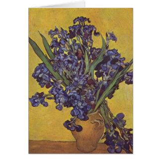 Vincent Willem Van Gogh Iris flowers Card