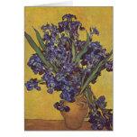 Vincent Willem Van Gogh Iris flowers Greeting Card
