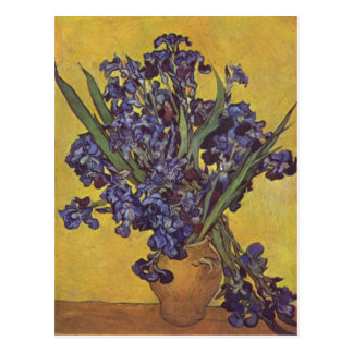 Vincent Willem Van Gogh Iris flowers Postcard