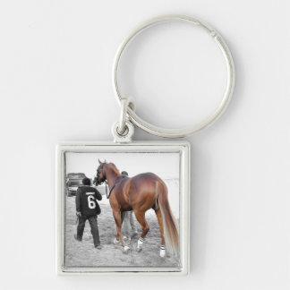 Vincento Silver-Colored Square Key Ring