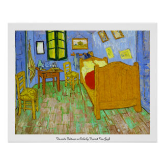 Vincent's Bedroom in Arles by Vincent Van Gogh Poster