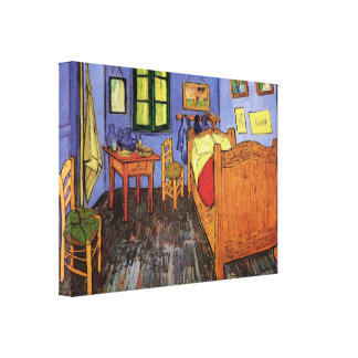 Vincent's Bedroom in Arles by Vincent van Gogh Stretched Canvas Print