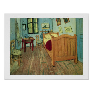 Vincent's Bedroom in Arles Print with border